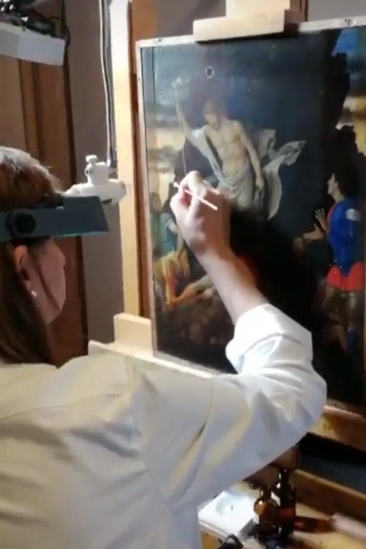 A Bergamo l'eccezionale restauro in diretta del Mantegna ritrovato