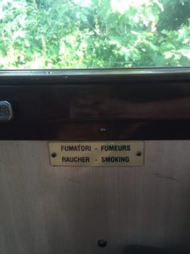Vagone fumatori per treno storico