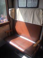 Sedile sulla Carrozza treno storico