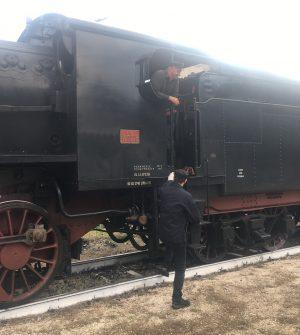 macchinisti del treno a vapore