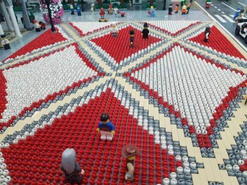 Centro Piacentiniano in Lego particolare pavimentazione