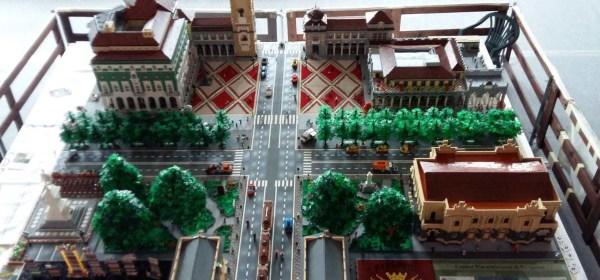 Il Centro Piacentiniano in mattoncini Lego visto dall'alto