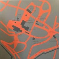 Pannello Mappa artistica Camera Gombit Hotel