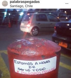 Palabras Pegadas in Cile