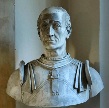 Busto in gesso raffigurante Bartolomeo Colleoni