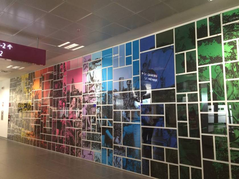 Mosaico Mastrovito aeroporto