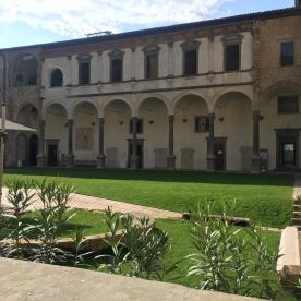 Monastero di Astino visto dall'interno