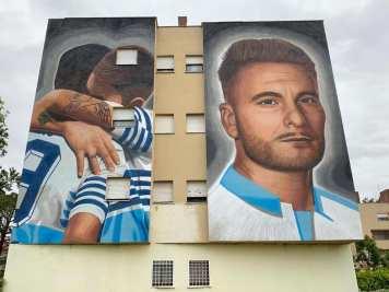 Murale Lazio terminato