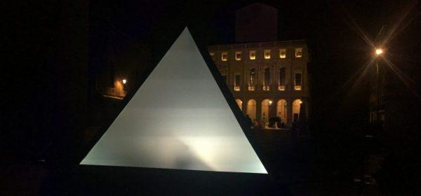 Skin il tetraedro del Site specific in Città Alta