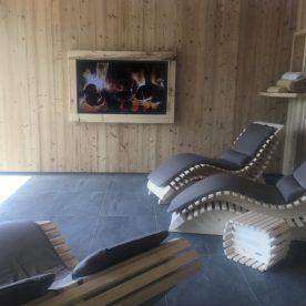 Sala Relax con Caminetto Digitale