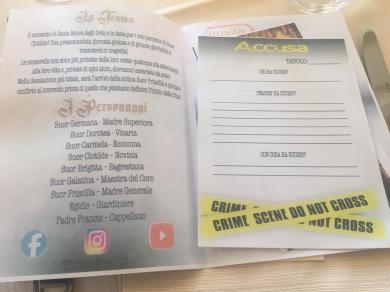 Le istruzioni del Pranzo con Delitto
