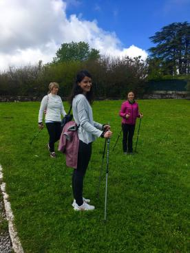 Nadia e Sara - visita guidata con Nordic Walking