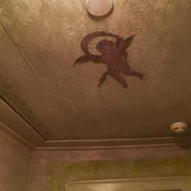Decorazione del soffitto dei palchetti del teatro