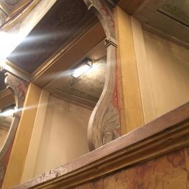 Decorazione lignea dei palchetti del teatro Sociale
