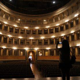 I palchi del teatro sociali fotografati dal palco