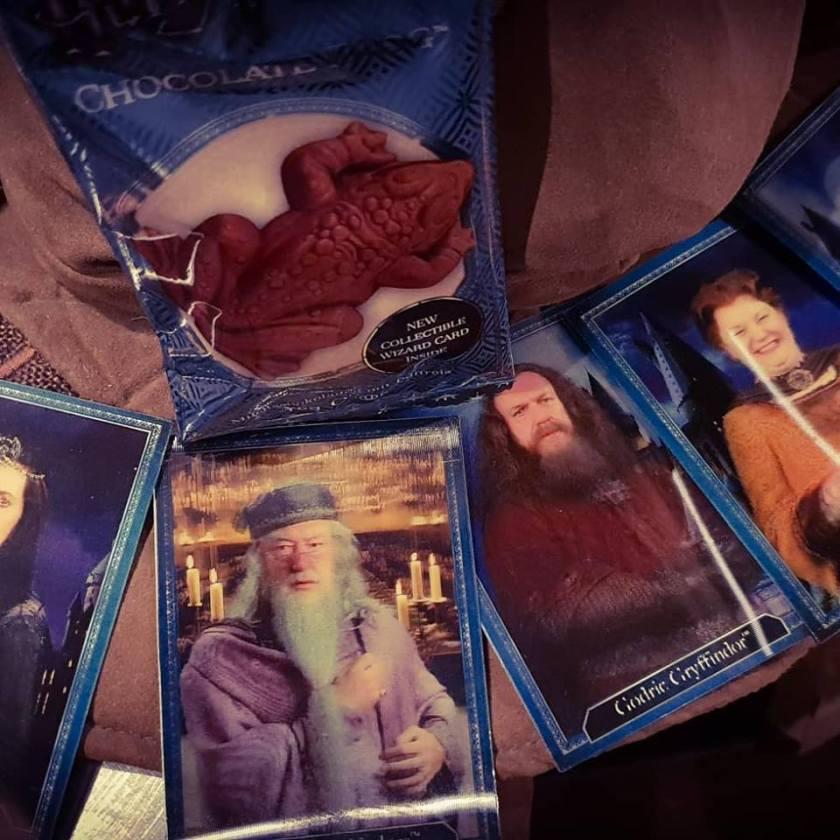 Cioccorane e figurine con le immagini dei personaggi di Harry Potter