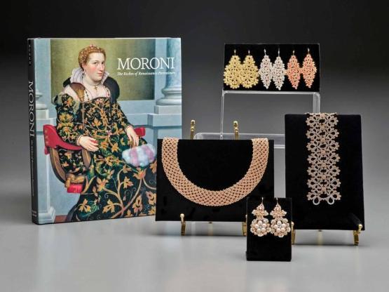 Catalogo della mostra sul Moroni con Isotta Brembati in copertina