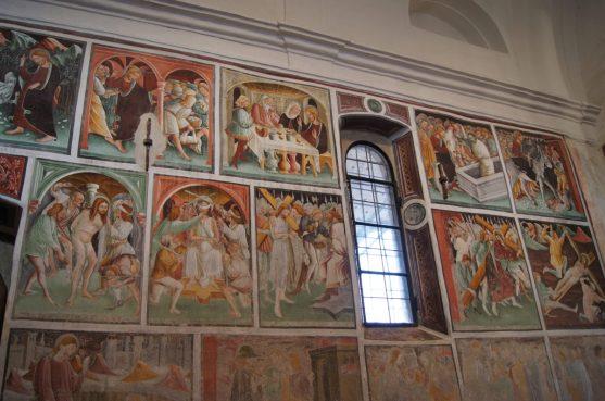 Affreschi con le storie di Gesù a Clusone