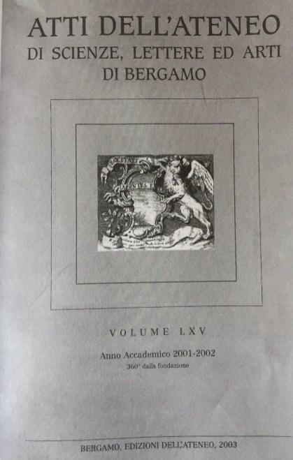 Copertina della pubblicazione Ateneo di Arti e Lettere