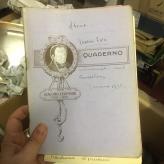 Egodì quaderno antico copertina dedicata a Giacomo Leopardi