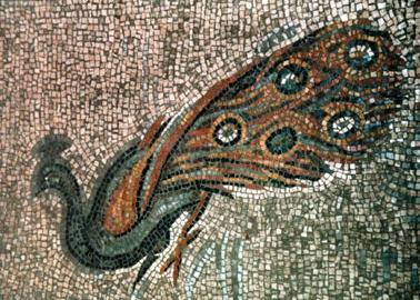 Pavone nell'arte del mosaico