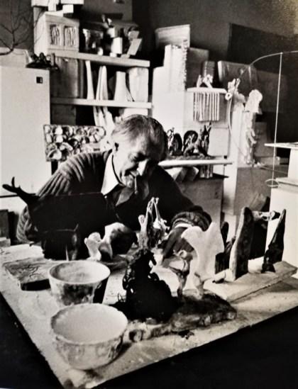 Sandro Angelini nel suo atelier