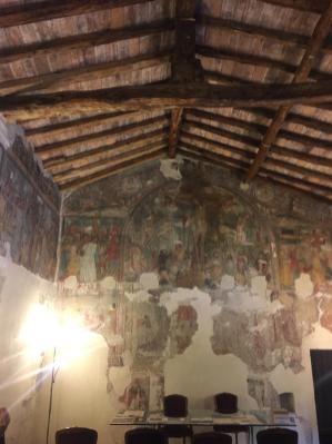Affreschi nell'oratorio di San Pietro in Lamosa