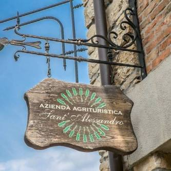 Insegna agriturismo Sant'Alessandro