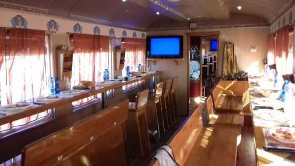 Vagone ristorante sul Treno dei Sapori