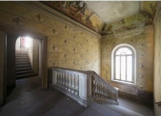Scalone d'onore a Villa Astori di Torre de' Roveri