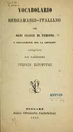 vocabolario bergamasco Zappettini 1859