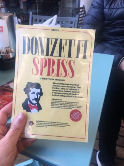 La ricetta in mano Donizetti Spriss