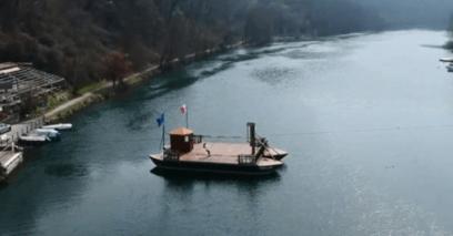 Traghetto attraversamento Adda