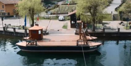 Traghetto di Leonardo visto dall'alto