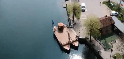 Traghetto visto dall'alto