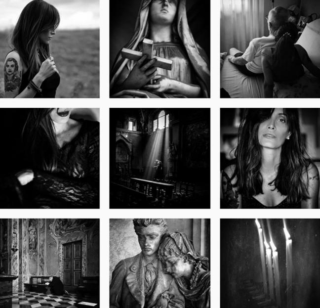 Collage di fotografie di Lisa Martignetti dal suo profilo instagram