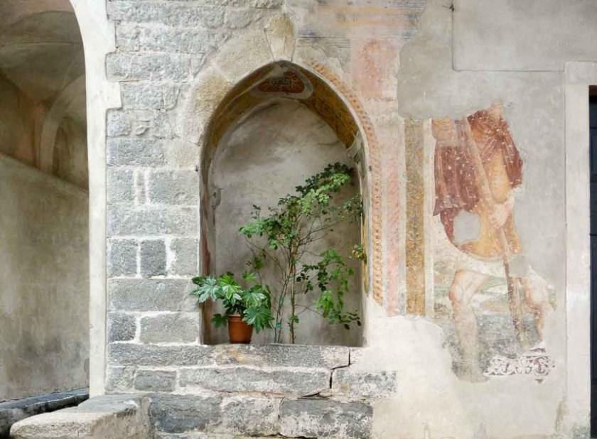 L'affresco raffigurante San Cristoforo a Oneta
