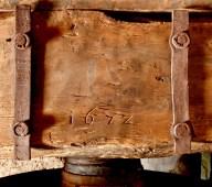 Mulino Maurizio Gervasoni piastreella con data 1672