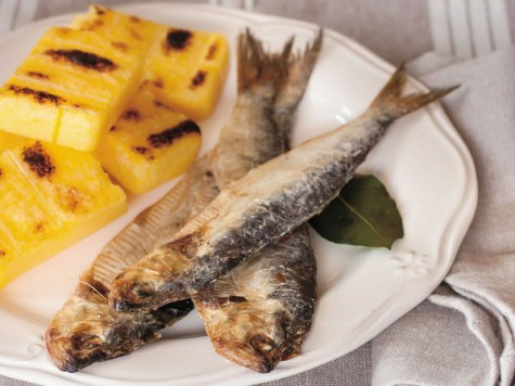 sardina di lago e polenta