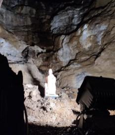 La statuetta di Santa Barbara protettrice dei minatori