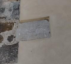 La pietra con l'iscrizione romana ritrovata a Mapello