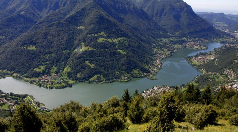 Lago d'Endine dal drone
