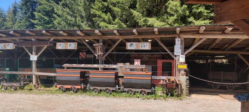 L'esterno della Miniera di Schilpario