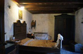 camera da letto antica Museo etnografico di Valtorta