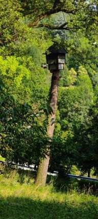 casetta pipistrelli nell'oasi WWF Valpredina