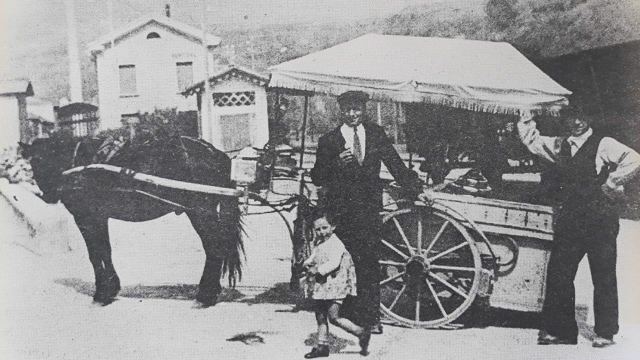 Gelateria Leffese il carretto dei gelati foto d'epoca