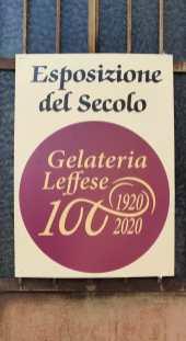 Mostra centenario Gelateria Leffese