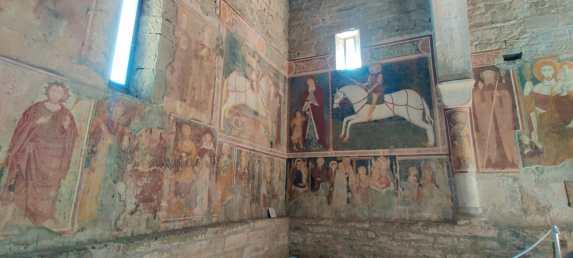 San Giorgio in Lemine pareti affrescate