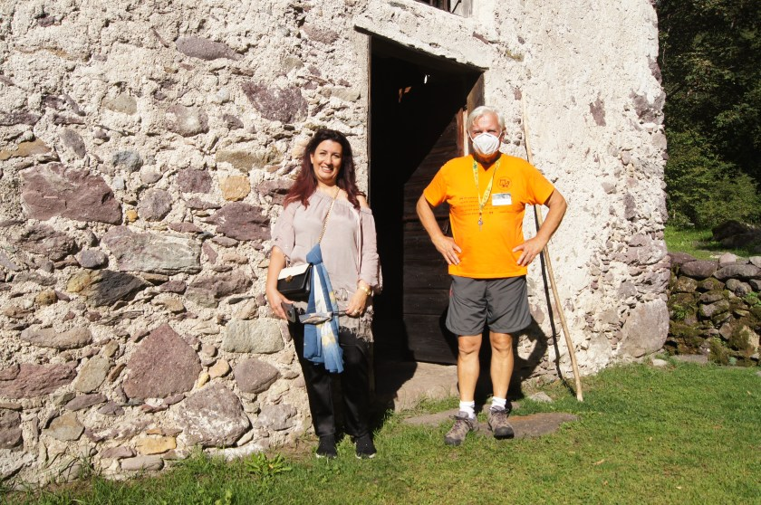 Raffi Garofalo e Bruno Gervasoni al termine della visita guidata al Mulino di Baresi