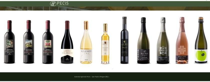 Tutti i vini Pecis di San Paolo d Argon